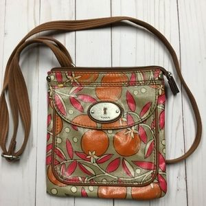 Fossil Orange Key-per Crossbody Bag